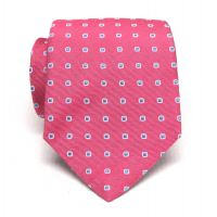 Hand Tailored Wooven Neck Tie Extra Long Style # Pink L90136XL-A9