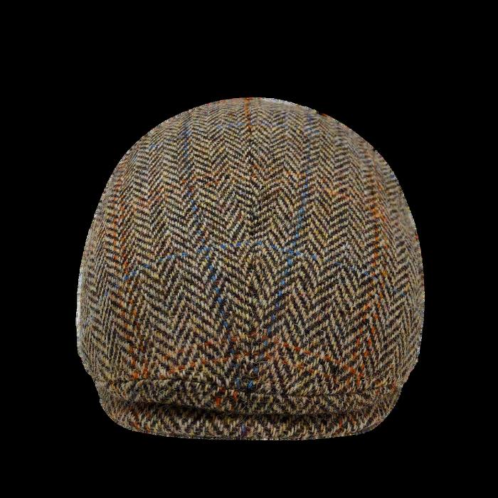 Heritage Traditions Brown Herringbone Tweed Baseball Skip Cap Hat