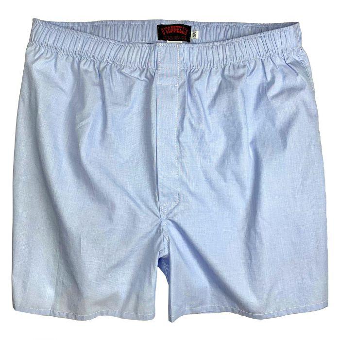 1940s Men's Clothing OConnells Cotton End-on-end Boxer Shorts - Blue  AT vintagedancer.com
