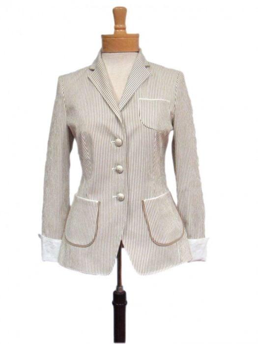 Schneiders Of Salzburg Women S Tamara Jacket Cotton Seersucker