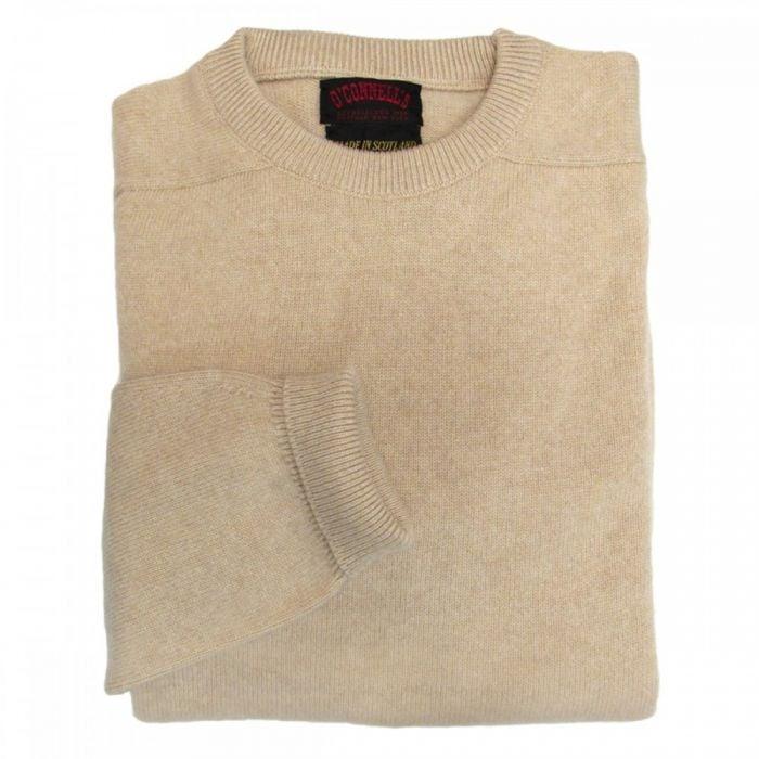 Scottish Cashmere Crewneck Sweater Oatmeal