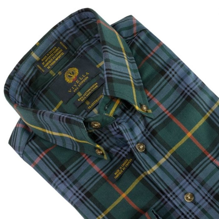Viyella Sport Shirt Pine Plaid 551425 52 Men S Clothing Traditional Natural Shouldered Clothing Preppy Apparel
